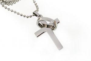 """Kette mit Anhänger """"Kreuz/Ring"""""""