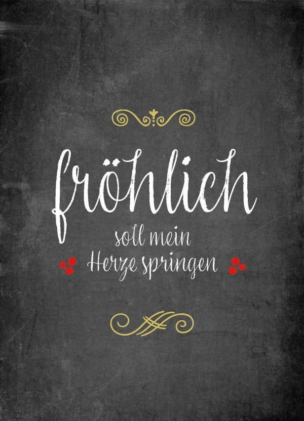 Postkarte - Fröhlich soll mein Herze springen
