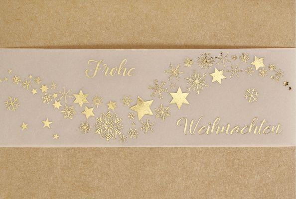 """Faltkarte """"Frohe Weihnachten - Sternenschleier"""""""
