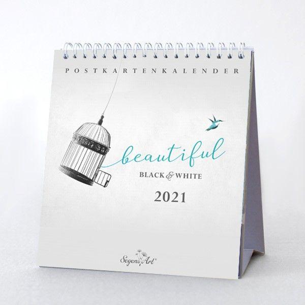 "Black&White ""Beautiful"" 2021 - Postkartenkalender"