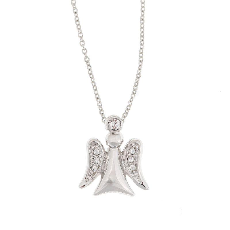 Halskette mit Anhänger Engel - silber