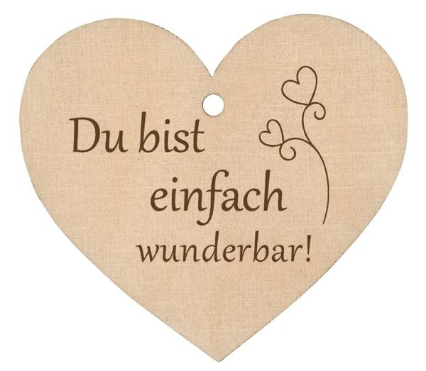 Holzherz - Du bist einfach wunderbar!