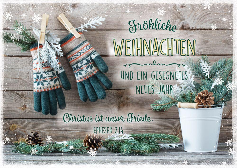"""Postkartenserie """"Fröhliche Weihnachten - Handschuhe"""" 12 Stk."""