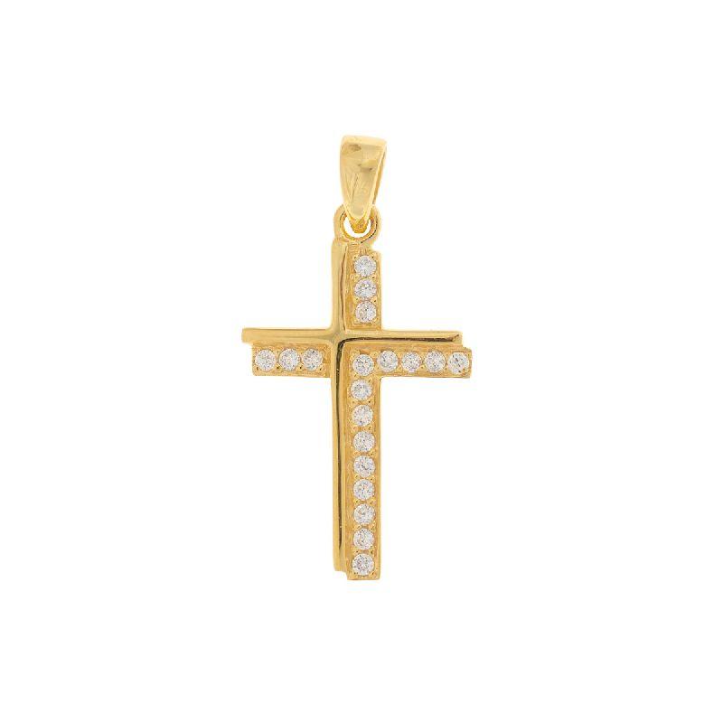 "Anhänger Kreuz ""Jemina"" - goldfarben"