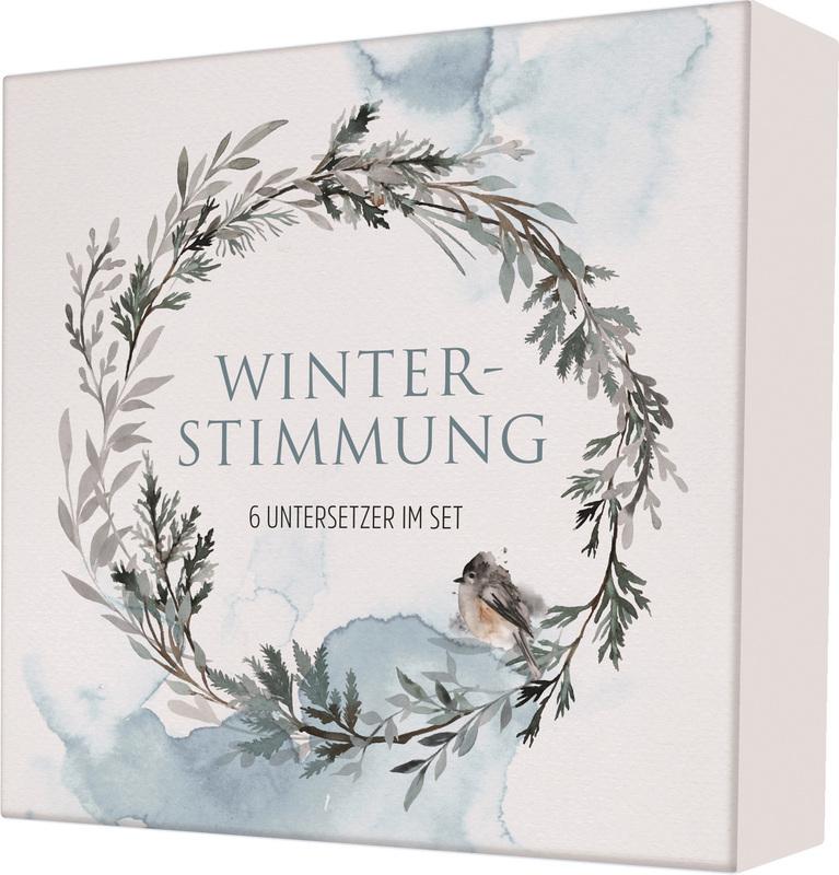 """Untersetzer """"Winterstimmung"""" 6er-Set"""