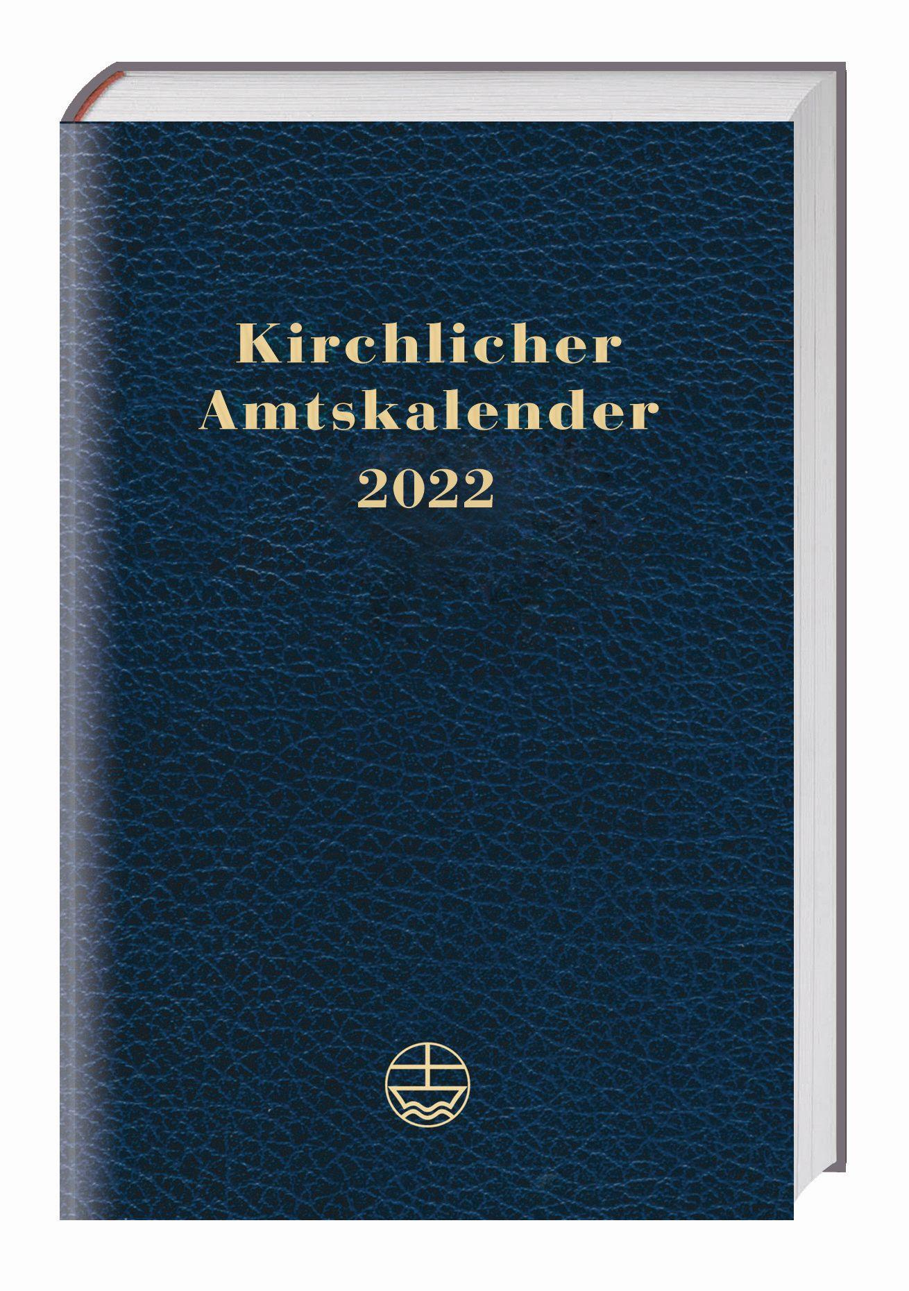 Kirchlicher Amtskalender 2022 - blau