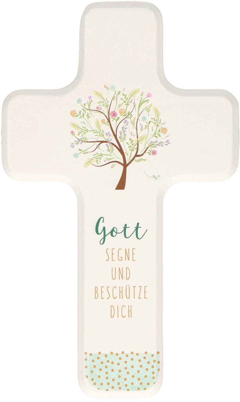 """Holzkreuz für Kinder """"Gott segne und beschütze dich"""""""