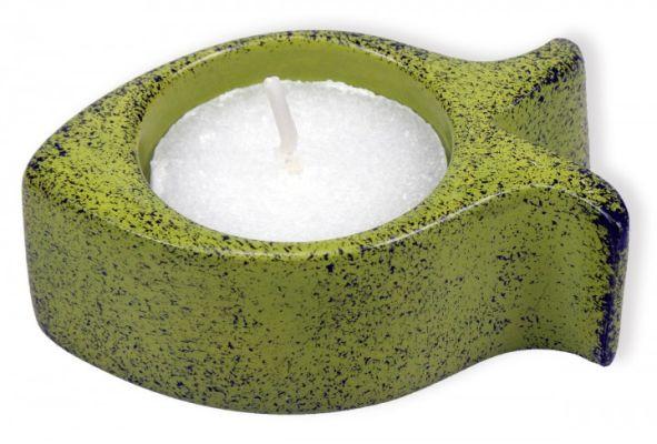 Teelichthalter aus Speckstein - hellgrün