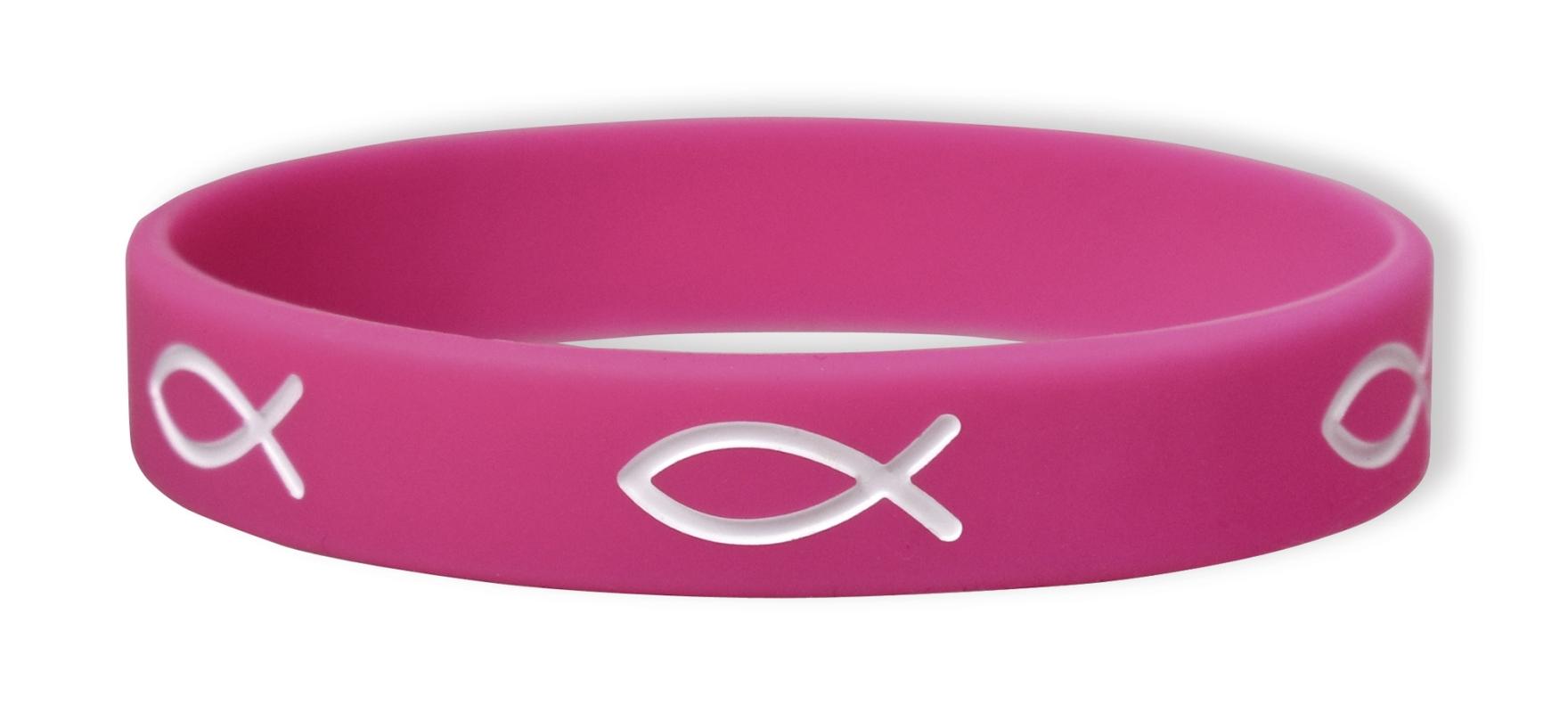 Gummiband Fisch pink