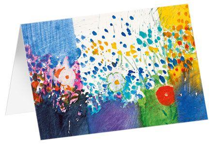 "Kunstkarten ""Blumenmeer"" - 5 Stück"