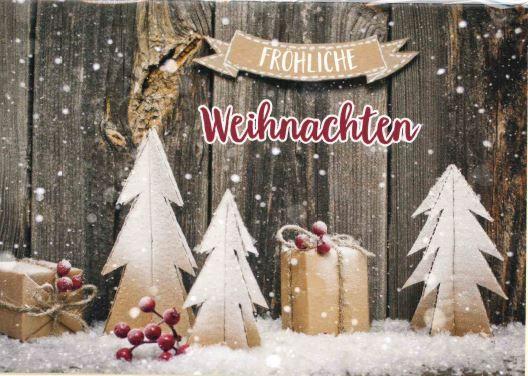 Faltkarte - Fröhliche Weihnachten