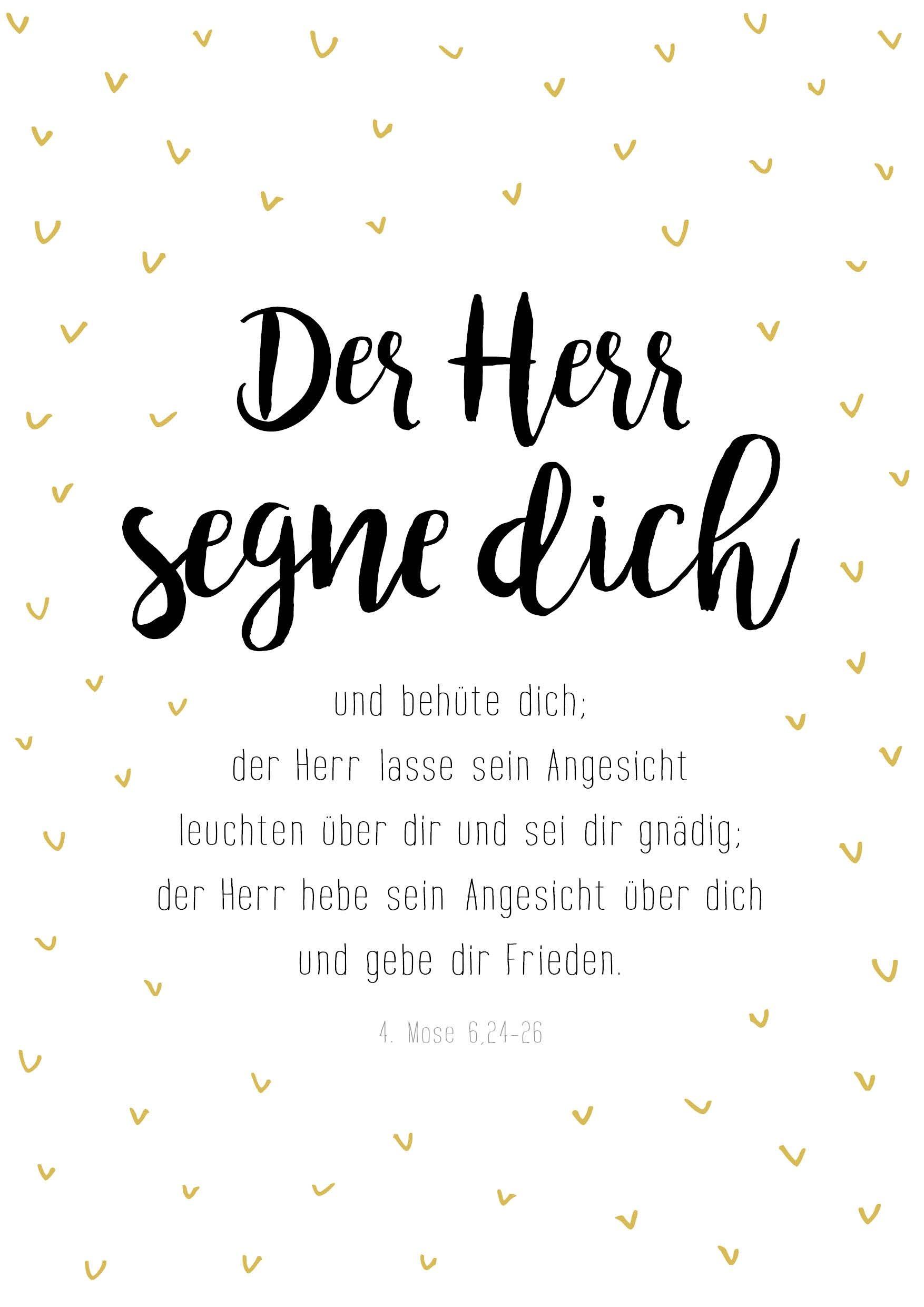 Poster: Der Herr segne dich - A3