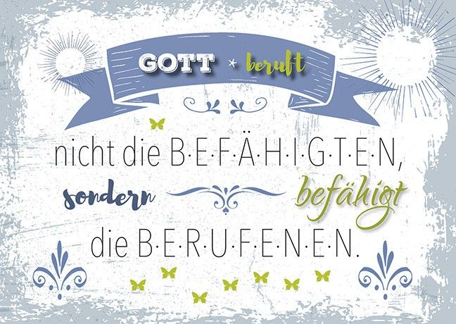 "Postkarten ""Gott beruft"" 4er-Serie"