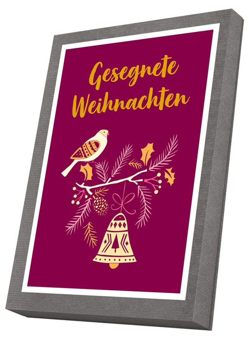 Faltkarten im Schmuckkarton  - Gesegnete Weihnachten
