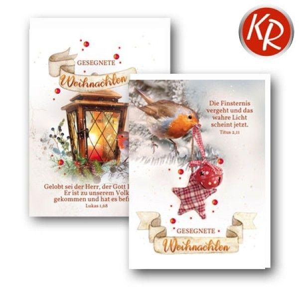 Faltkarten - Weihnachten 10er Set