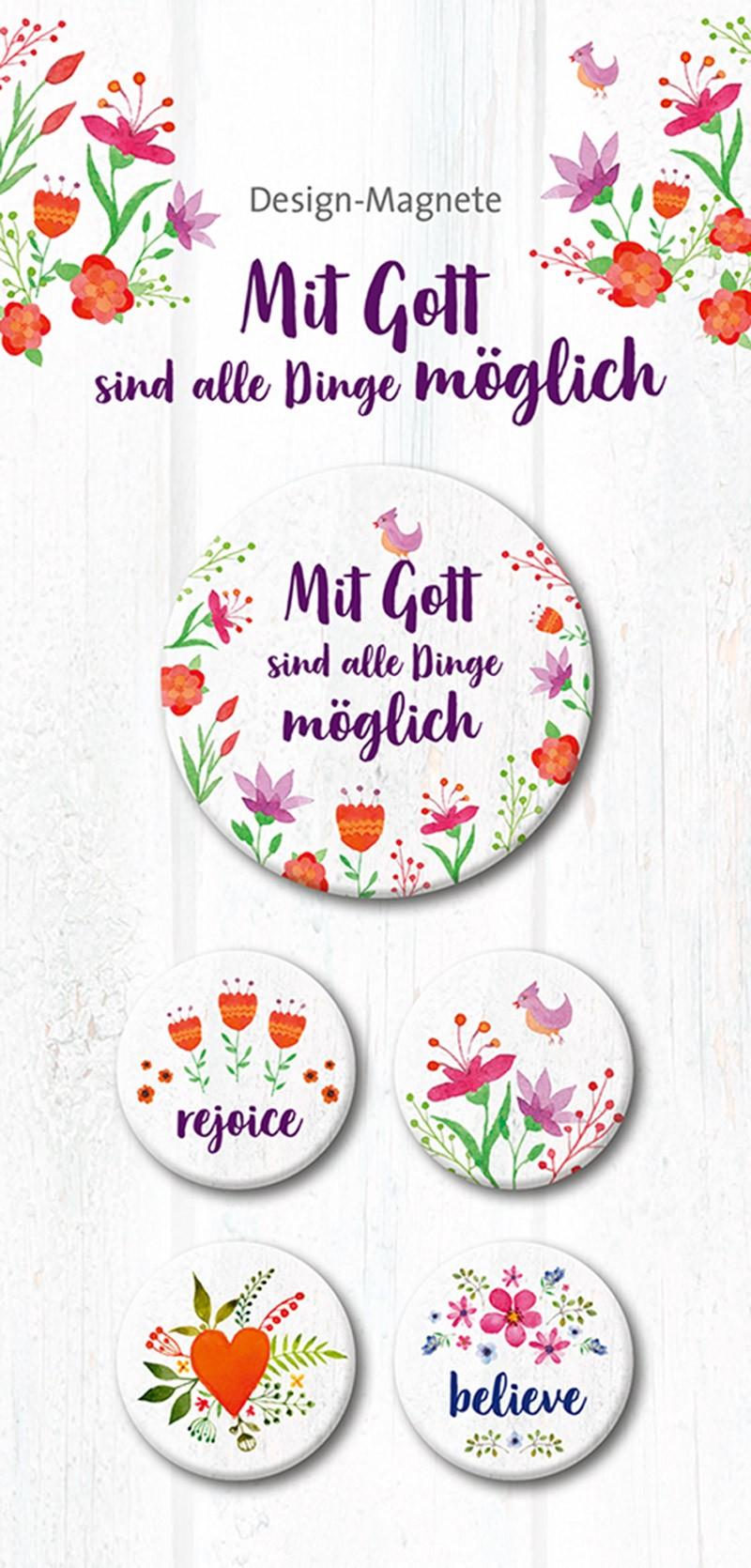 Mit Gott sind alle Dinge möglich - 5er-Magnet-Set