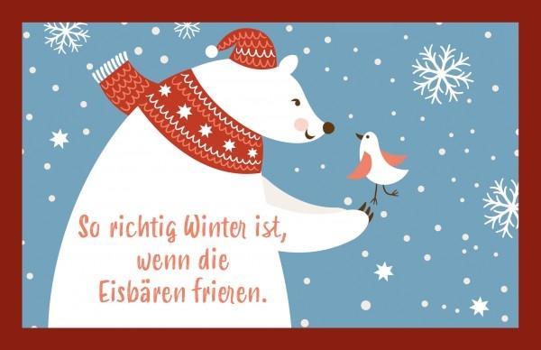 Glühweinkarte - So richtig Winter ist, ...